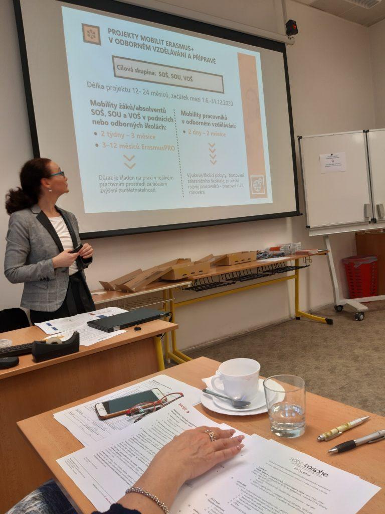 Valná hromada SPTV 10. 1. 2020 - prezentace Domu zahraniční spolupráce k programům Erasmus+