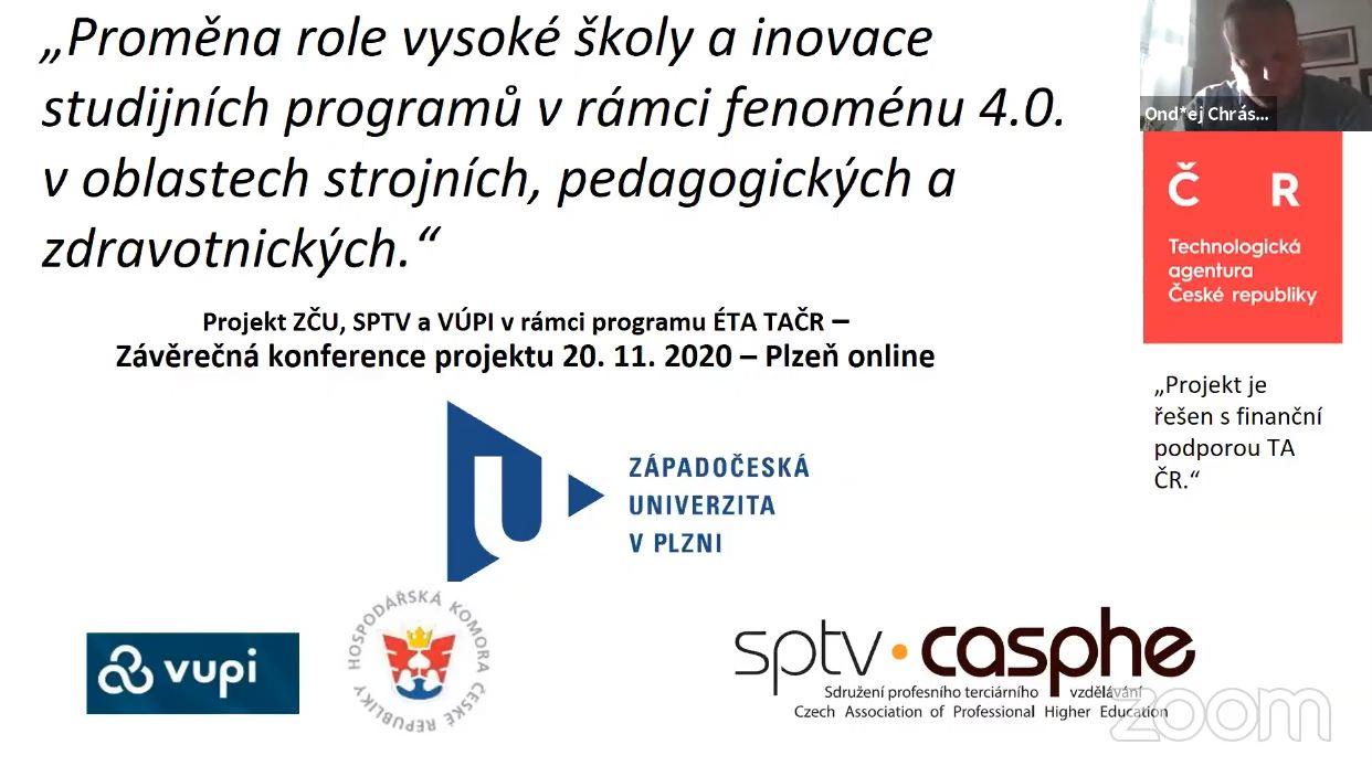 Přednášející se sešli na platformě zoom, ta pak program konference přenášela na youtube kanál pro všechny zájemce.
